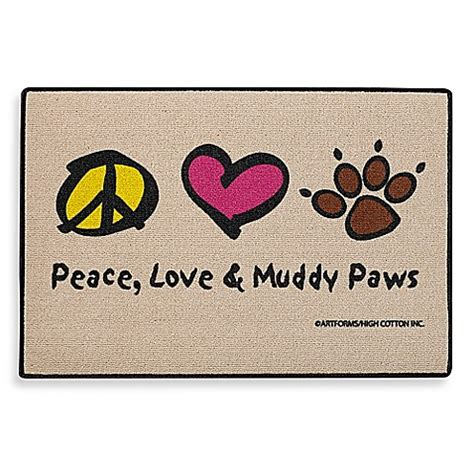 Peace Doormat by Buy Peace Muddy Paws Door Mat From Bed Bath Beyond