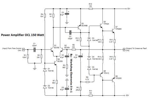 power lifier ocl 150 watt edukasi elektronika electronics engineering solution and education