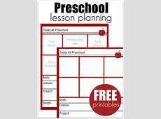 Preschool Lesson Planning Template – Free Printables No