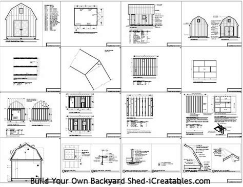 16x20 Gambrel Shed Plans by 187 16 X 20 Gambrel Shed Plans Pdf Shed Plans 12 X 20 Free