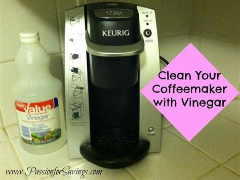 To clean a coffee pot using vinegar and baking soda, pour the baking soda into the cooled coffee pot and add enough white vinegar use this incredibly easy recipe for how to clean stained coffee cups, too. How to Clean your Keurig or Coffee Maker - Passion for Savings