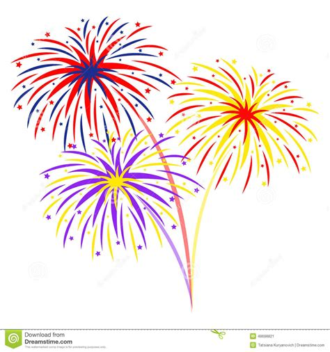 fuochi d artificio clipart fireworks on white background illustration stock vector