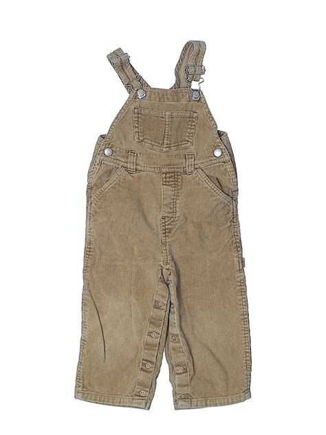 navy  cotton solid tan overalls size    thredup