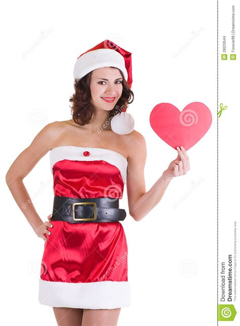Santa Claus With Maiden In Bright Clothes Stock In Santa Claus Clothes Stock Photo Image 28203544