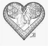 Coloring Glass Stained Frosted Hearts Kingdom Netclipart sketch template