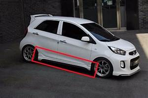 Zest Aero Parts Side Skirts Unpainted For Kia Picanto 2016