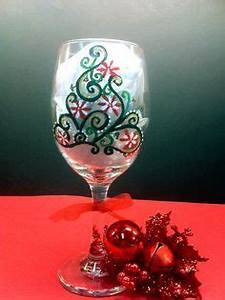 Hand Painted Wine Glass features a new twist on the