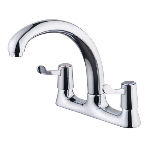 b q kitchen sink mixer taps galleny chrome finish kitchen deck mixer tap departments 7548