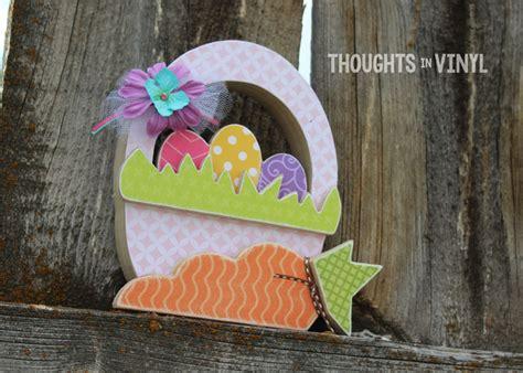 wooden easter basket craft thoughts  vinyl