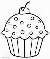 Coloring Pages Cupcake Cupcakes Printable Cool2bkids sketch template