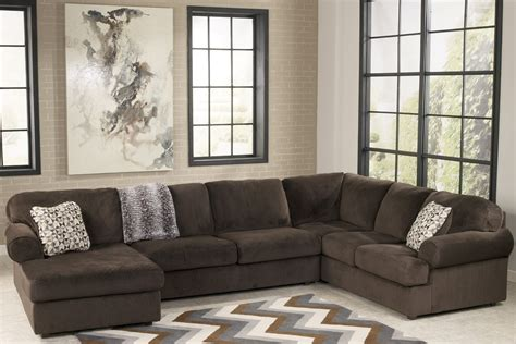 jessa place jessa place chocolate left arm facing sectional from