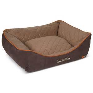 scruffs thermal self heating pet dog cat box bed brown