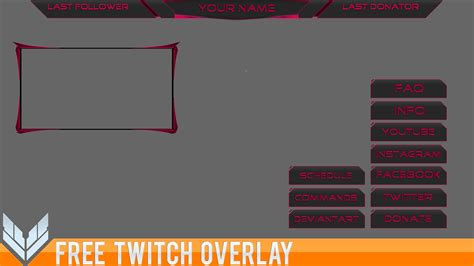 Twitch Banner Template Overlay Free Twitch Template 2 By Ayzs On Deviantart