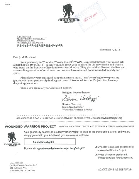 sam s club request for donation form wounded warrior project thank you letter