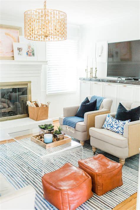 boho coastal living room reveal olive  tate