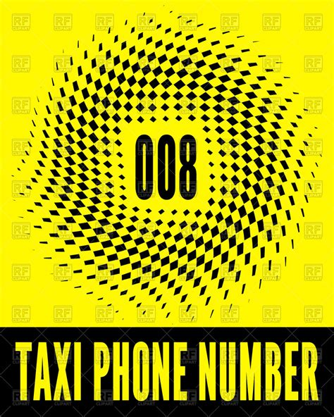 taxi phone number taxi business card design with phone number vector image