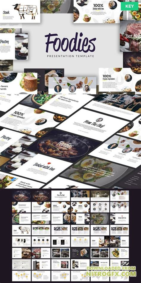 foodies culinary powerpoint template nitrogfx