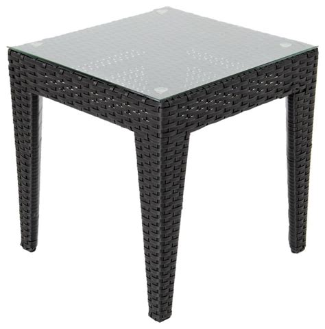 resin outdoor side table providence resin wicker patio end table contemporary