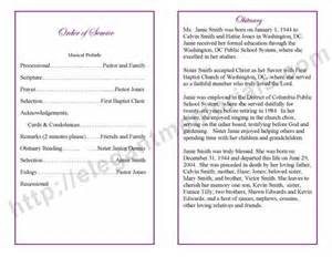 thank yous on wedding programs obituary templates archives funeral programs