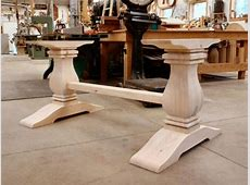 Wood Pedestal Table Base Bolt Down — Home Ideas Collection