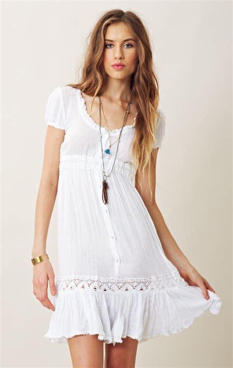 white gauze dress  dress
