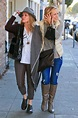 MARIA BELLO and girlfriend Clare Munn Out Shopping in ...