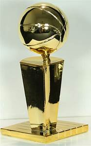 Nba Larry O U0026 39 Brien Championship Trophy High Quality 24k Gold Clad 6 U0026quot  Replica