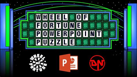 wheel  fortune powerpoint puzzle youtube