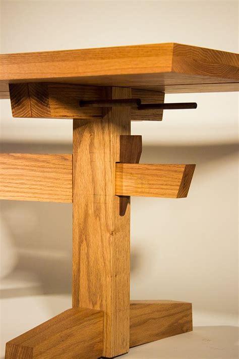 shaker  japanese inspired trestle table