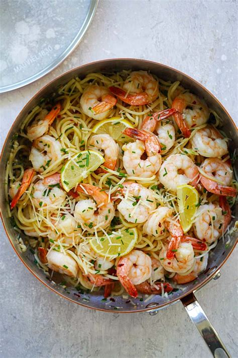 garlic chive butter shrimp pasta mauviel review easy delicious recipes