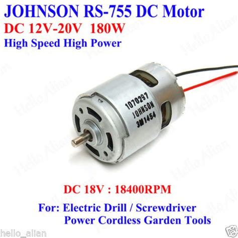 High Power Electric Motor by Details About Mabuchi Rs 755wc 8017 Dc 12v 18v High Speed