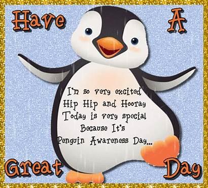 Hip Penguin Hooray Awareness Ecard Customize Send