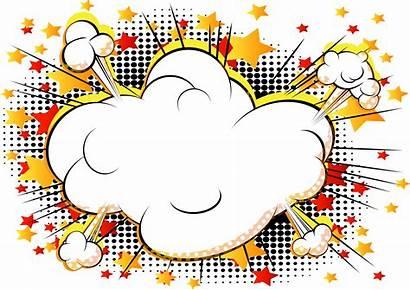 Explosion Comic Cartoon Clipart Comics Cloud Clouds