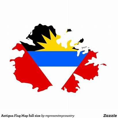 Antigua Barbuda Flag Symbol Sun Sea Usvi