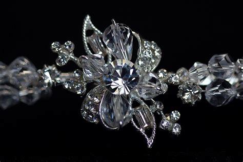 rhinestone flower tiara wedding collectibles