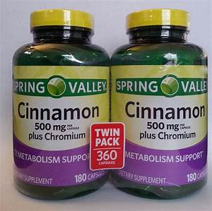 Spring Valley Cinnamon Supplement 1000mg  Serving Chromium  360 Capsules  Pills