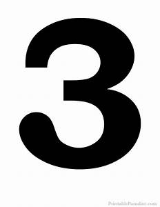 Printable number 3 silhouette print solid black number 3 for Printable number 3