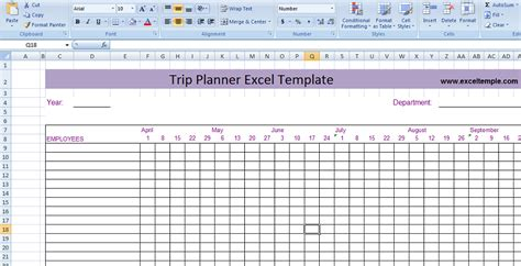 trip planner template trip planner excel template microsoft excel templates