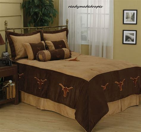 western longhorn cowboy comforter bedding set texas ebay