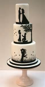 wedding cakes silhouette wedding cake etoile bakery