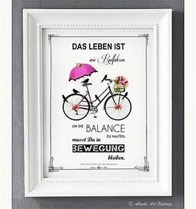 Das Leben Ist Wie Ein Fahrrad : kunstdruck a4 das leben ist wie radfahren produkte kunst und fabriken ~ Orissabook.com Haus und Dekorationen