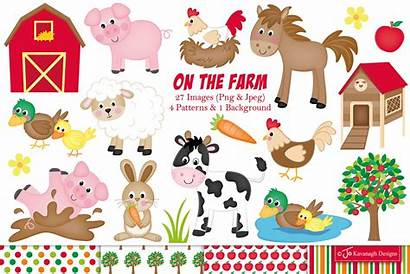 Farm Animals Clipart Graphics Illustrations Animal Designs