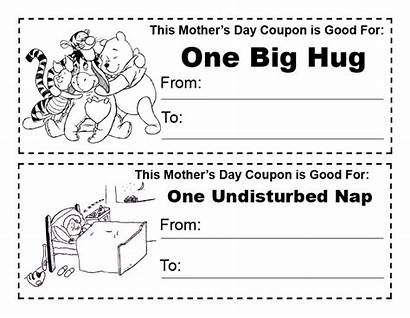 Happy Coloring Printable Mothers Coupons Hug Coupon