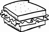 Sandwich Clipart Coloriage Sandwiches Kleurplaat Boterham Imprimer Ice Cream Template Cheese Coloring Drawing Sheet Pb Beef Colorable Sketch Amp Station sketch template