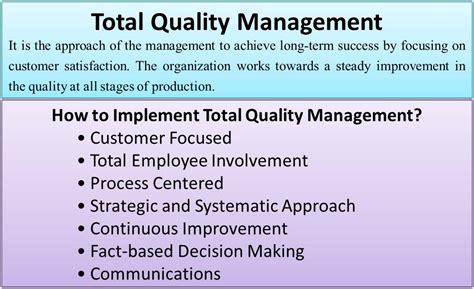 total quality management efinancemanagementcom