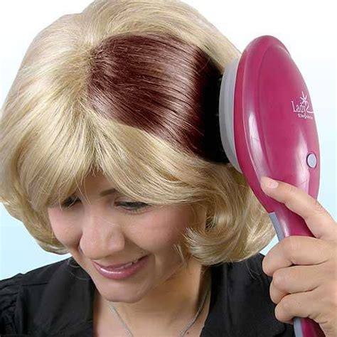 Hair Coloring by Brush In Hair Dye The Hair Coloring Brush Lets You Sweep