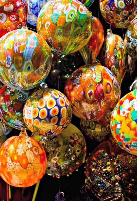 italian christmas baubles murano venice italy italy