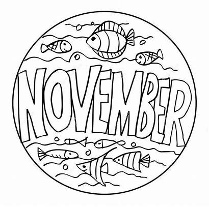 November Coloring Colore Esempio Bambini Coloritura Pagine