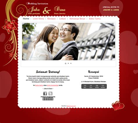 undangan  love undangan mewah terbalut warna merah