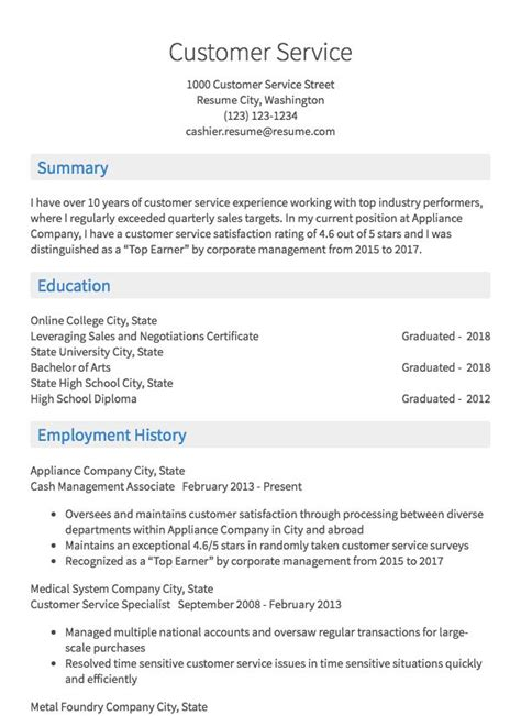 How To Write A Simple Resume by Easy Resume Builder Free Resumes To Create